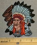 2100 N - Heritage - History - Honor - Chief Indian - Embroidery Patch