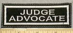 2105 L - Judge Advocate - Embroidery Patch