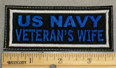 2103 L - US Navy Veteran's Wife - Blue - Embroidery Patch