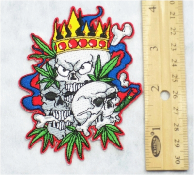 231 N - KING OF POT - EMBROIDERY PATCH