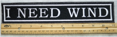 408 L - I NEED WIND - EMBROIDERY PATCH - GRAY