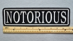 "426 L - NOTORIOUS 11"" - EMBROIDERY PATCH - WHITE - FREE SHIPPING!"