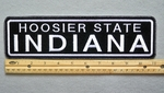 "453 L - INDIANA HOOSIER STATE 11"" - EMBROIDERY PATCH - WHITE - FREE SHIPPING!"