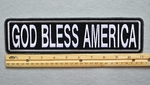 "456 L - GOD BLESS AMERICA 11"" - EMBROIDERY PATCH - WHITE - FREE SHIPPING!"