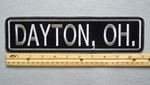 "458 L - DAYTON, OH. 11"" - EMBROIDERY PATCH - GRAY - FREE SHIPPING!"
