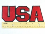 607 B - 3 PC RED USA PATCH - Embroidery Patch