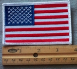 885 W - USA Flag -  Embroidery Patch