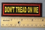 992 L - Don't Tread On Me Embroidery Patch - Red Border Yellow Letters