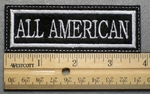 687 L - ALL AMERICAN - Embroidery Patch