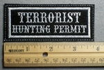 1105 L - Terrorist Hunting Permit - Embroidery Patch