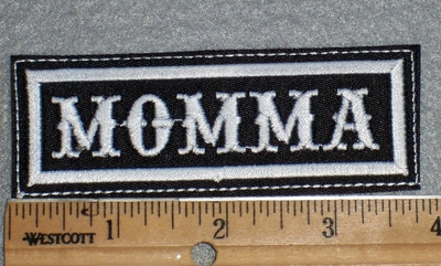 1657 L - Momma - Embroidery Patch