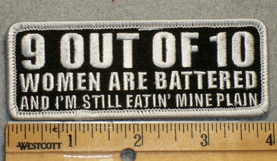 1692 G - 9 Out Of 10 Women Are Battered - Embroidery Patch