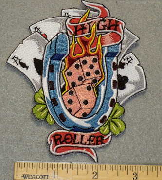 1262 G - High Roller - Dice - Embroidery Patch