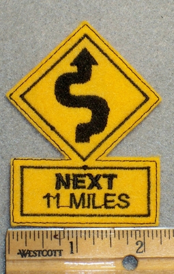 1628 L - Next 11 Miles - Embroidery Patch