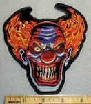1714 N - Evil Clown Face With Spiked Teeth - Embroidery Patch