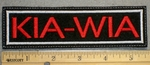 1205 L - KIA - WIA - Embroidery Patch