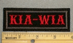 1287 L - KIA-WIA - Embroidery Patch