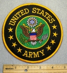 1689 W - discontinued  United States Army Round Patch - Embroidery Patch