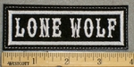 1291 L - Lone Wolf - Embroidery Patch