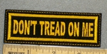 1236 L - Don't Tread On Me - Embroidery Patch