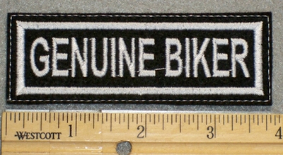 1252 L - Genuine Biker - Embroidery Patch