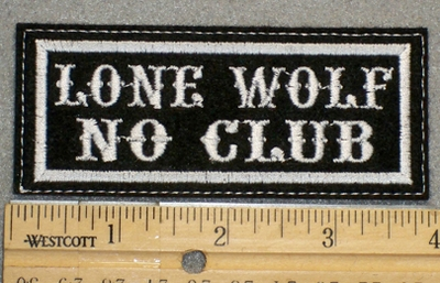 1290 L - Lone Wolf No Club - Embroidery Patch