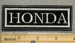 1266 L - HONDA - White Lettering - Embroidery Patch