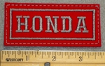1264 L - HONDA- Red Background - Embroidery Patch