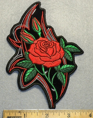 1708 G - Red Rose - Embroidery Patch