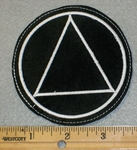 1891 L - Alcohol Anonymous Symbol - Embroidery Patch