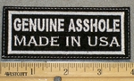 1249 L - Genuine Asshole Made in USA - Embroidery Patch