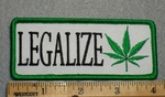 1698 G - Legalize With Pot Sign - Embroidery Patch
