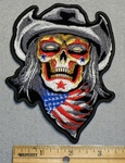 1633 N - Cowboy Skull WIth American Bandana - Embroidery Patch