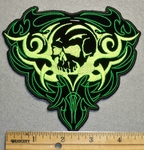 1712 N - Skullface Enclosed In Celtic Heart - Embroidery Patch
