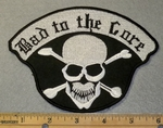1889 B -  Bad To The Bone - Skull Face With Cross Bones - Embroidery Patch