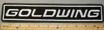 1899 L - Gold Wing - Straight 11 Inch Topper - Embroidery Patch