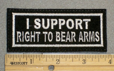 1271 L - I Support Right To Bear Arms - Embroidery Patch