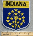 Indiana State Shield - Embroidery Patch