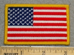 1211 CP - American Flag Yellow Border - Embroidery Patch