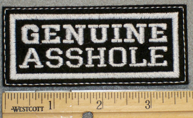 1250 L - Genuine Asshole - Embroidery Patch