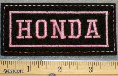 1265 L - HONDA - Pink Lettering - Embroidery Patch