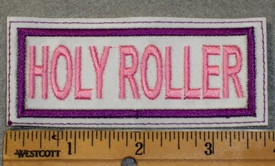 1895 L - Holy Roller - White Background - Embroidery Patch