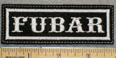 1244 L - FUBAR - Embroidery Patch