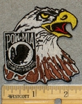2126 N - Bald Eagle With POW-MIA Symbol - Embroidery Patch