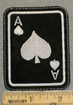 2154 L - Black Ace Of Spades - Embroidery Patch