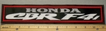 2175 L - Honda CBRF4i - 11 Inch Straight - Embroidery Patch
