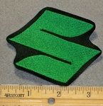 "2133 L - Suzuki Symbol ""S"" - Green - 3 Inch - Embroidery Patch"