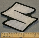2135 L - Suzuki Symbol - 3 Inch - Embroidery Patch