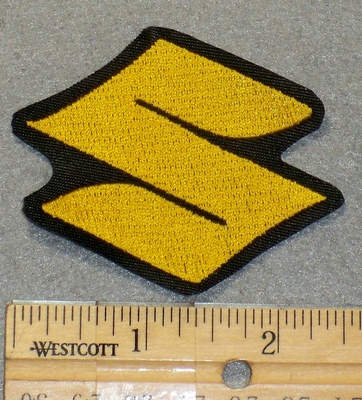 "2129 L - Suzuki Symbol ""S"" - Yellow - Mini Version - Embroidery Patch"