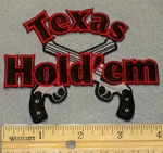 2144 N - Texas Hold'em With Two Guns - Embroidery Patch